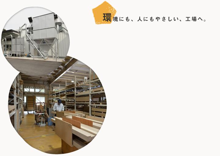 環境にも、人にもやさしい、工場へ。